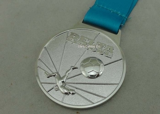 China Customized Ribbon Football Awards Medals Full Relief Zinc Alloy supplier