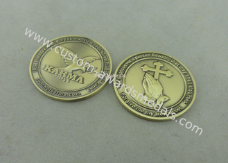 China Die Stamped Religion Personalized Coins , Customized Brass Charity Souvenir Coin supplier