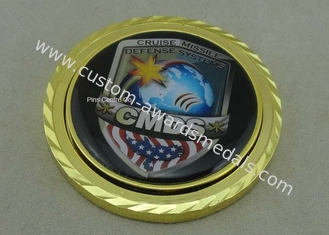 China Rope Edge Personalized Spinning Coins With Zinc Alloy , 50mm Diameter supplier