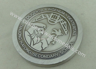 China Custom Personalized Coins With Double Tones Plating , Souvenir Velvet Box Coin supplier