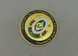 China Transparent Enamel Personalized Military Coins , Custom 3D Memorial Coin For Army supplier