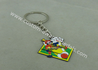 China Custom Soft Enamel Souvenir Keychains Mitation Rhodium Plating Lead & Nickel Free supplier