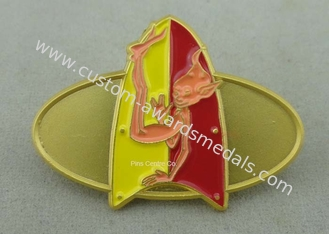 China Classic Embossed Soft Enamel Recognition Pins With Gold Plating supplier