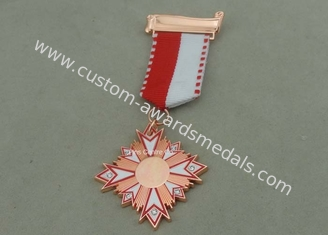 China Carnival Awards Medals In 3D Design , Zinc Alloy Competition Medals With Silver Plating supplier
