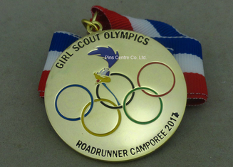 China Gold Plating Enamel Medals , Olympic Awards For Running Race supplier