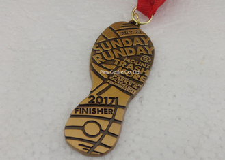 China Die Casting Antique Triathlons Awards Medals , Zinc Alloy Antique 5K Medals supplier