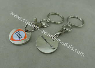 China Brass , bronze , Iron Trolley Coin Keyring Single Or Double-Sided For Advertisement supplier