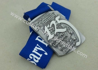 China Zinc Alloy Die Casting Medals 3D Awards Sport Medals , Running Marathon Ribbon Enamel Medals supplier