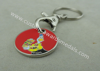 China Customized Trolley Coin Keyring , Shopping Trolley Coin Holder / Caddy Coin with Key ring supplier
