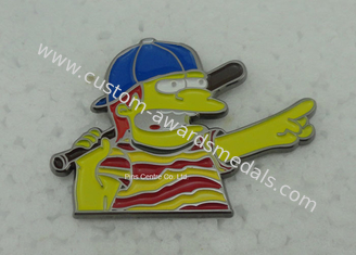 China Die Struck High Polish Pin Badge , Die Casting Hard Enamel Pin , 3D Zinc Alloy Badges supplier