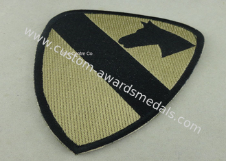 China Heat Cut Custom Embroidery Patches with Hot Melt Adhesive 10 mm Thickness supplier