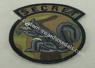 China Cotton Thread Embroidery Patches For Clothes , Military Emblem Badge supplier