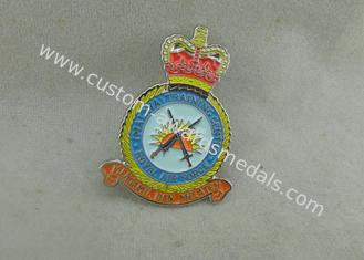 China Zinc Alloy Transparent Soft Enamel Pin , Military Honor Royal Air Force Pin Badges supplier