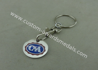 China Die Struck Customized Enamel Trolley Token Keyring For Ornaments supplier