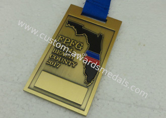 China Ancient Bronze Metal Enamel Medal for Marathon Sports With Gold Finishing supplier
