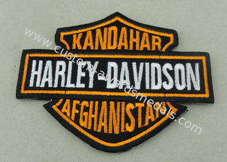 China Customized Applique Sequin Embroidery Patches / Harley Davidson Badges supplier