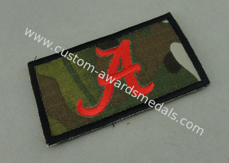 China Customized Police Rubber PVC Patch with Raised Logo / Magic Tape supplier