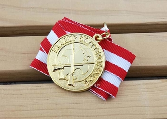 China Custom Full Running / Walk Die Cast Medals Soft Enamel Kappes Ordens supplier