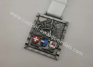 China Customized Soccer Football Medallion Die Cast Medals , Bronzed Police Challenge Awards supplier