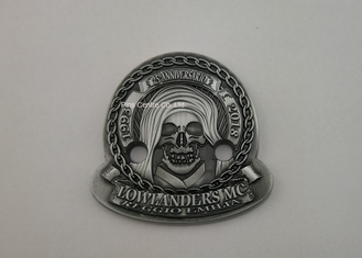 China 3D Antique Zinc Alloy Imitation Hard Enamel Ring , Military Badges And Pins supplier
