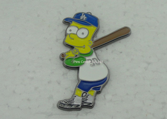 China Brass Baseball Soft Enamel Pin for Religious / Memorial Custom Shaped supplier