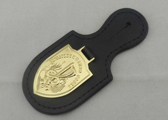 China Personalized Leather Keychains , Einsatzkommando Cobra Leather Pocket Badge supplier