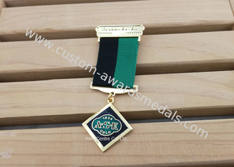 China Hard Enamel Die Struck Custom Awards Medals For Army Hornor With Gold Plating supplier