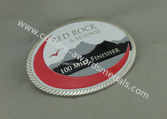 Soft Enamel Die Casting Custom Made Buckles For Running Race Personalized