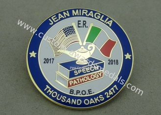 China Customized Die Struck Synthetic Hard Enamel Pin Badge For Promotional Gifts supplier