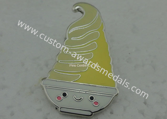 China Promotional Custom Hard Enamel Pin By Copper Die Struck Silver Plating supplier