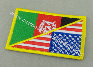 China Customized Promotional US Uniform Badge Patch 3.25 Inch Eco - Friendly supplier