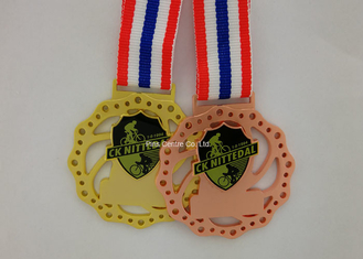 China Die Cast 3D Sports Medals , Zinc Alloy Martial Arts Medals With Antique Plating supplier