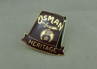 China Synthetic Military Emblem Brass Soft Enamel Pin Die Stamped Custom Shape supplier