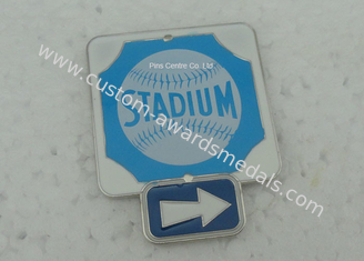 China Business Promotional Soft Enamel Epoxy Award Pin , Photo Etched Club Pin supplier
