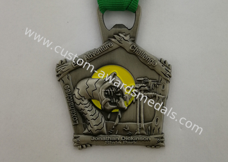 China Durable Custom Sports Medallions , Promotional Awards Ribbon Running Race Medals supplier