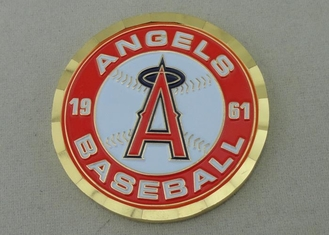 China Angels Baseball Personalized Coins For Collection , 4.0 mm Thickness supplier