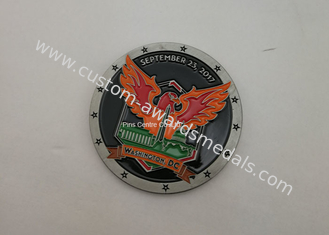 China Diamond Cut Edge Military Coin , Personalized Hard Enamel Air Force Coins supplier