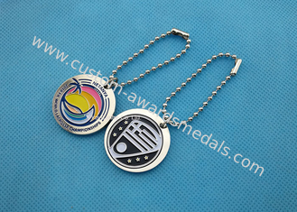 China Brass Material Die Stamped Personalised Dog Tags Bag Dangle For Business Gift supplier