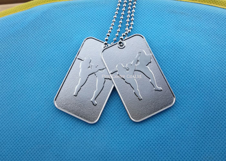 China Printing Business Promotional Soft Enamel Army Dog Tags Stainless Steel Material supplier