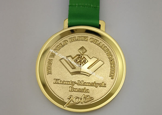 China Round 5k Race Medals , Iron Volleyball 3D Zinc Alloy Wrestling Medals supplier