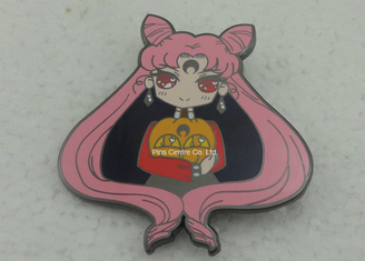 China Personalised Hard Enamel Lapel Pin Gold Plating Plain And Flat Back supplier