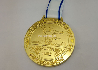 Zinc Heat Transfer Printing Ribbon Die Cast Medals With Logo Customized