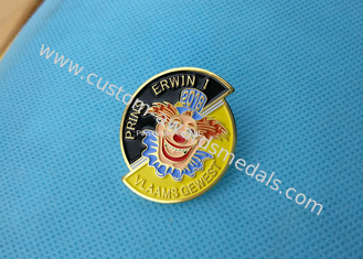Business Promotion Soft Enamel Pin  ,  Prins Erwin Carnaval Pin Badge Die Stamped