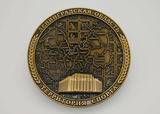 Personalised  Die Cast Medals For School Swimming Antique Plating