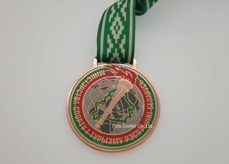Zinc Alloy Die Cast Medals /  High Polishing Gymnastics Sports Day Medals