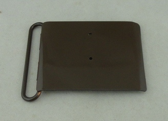 China Silkscreen / Offset Printing Custom Made Belt Buckles With Black Nickel Plating supplier