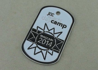 China MACCABI Personalized Dog Tags By Aluminum Stamped With Soft Enamel supplier