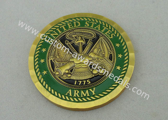 China Antique Brass Plating This We Will Defend custom made coins By Brass Die Stamped supplier