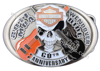 China Zinc Alloy / Pewter Custom Made Buckles / Mirosoft Belt Buckle with Antique Nickel Plating for Awards supplier