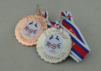 China Iron Stamped zinc alloy Medals For RSF, Soft Enamel With Shiny Copper  Plating supplier